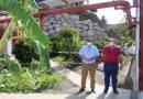 Axaragua construye un muro de escollera en la estación de tratamiento de aguas potables de El Trapiche para evitar riesgos de desprendimientos